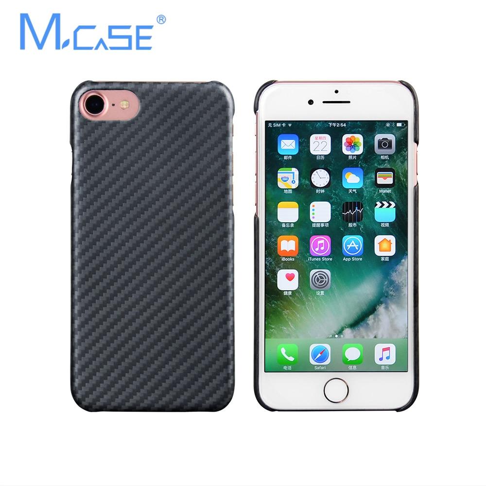 New Arrival Mcase Deluxe Ultra Thin Aramid Fiber Case Cover for iPhone 8, 8 Plus, 7, 7 Plus Fibre Cover Matte Rubber Cases
