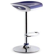 Светло-голубой цвет поднимаясь барный стул Офис чай кафе стул abs сиденье гостиная стул Бесплатная доставка
