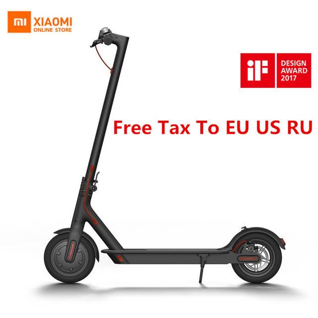 US $392 75 23% OFF|2019 Original Xiaomi Mijia M365 Smart Electric Scooter  Foldable Skate Board For Adult Mini mi Lightweight 30KM Mileage  Longboard-in