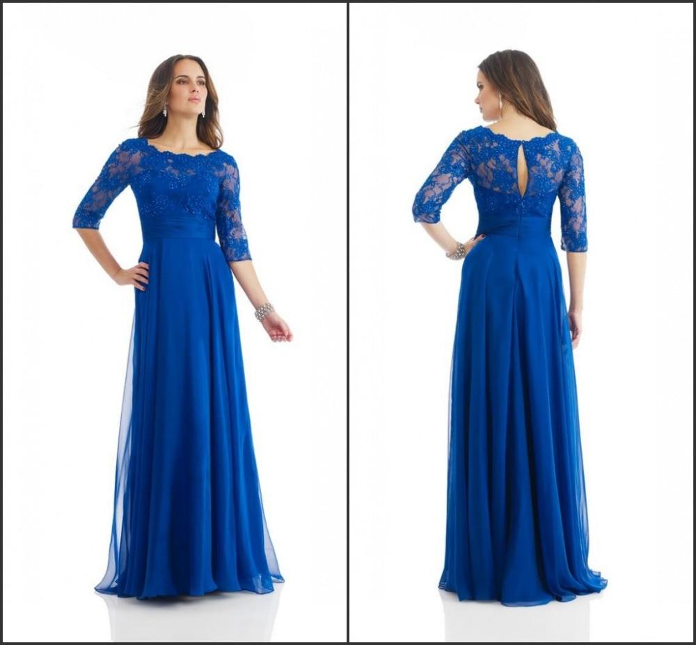Plus size 2014 sexy scoop royal blue bridesmaid dress lace for Plus size blue wedding dresses