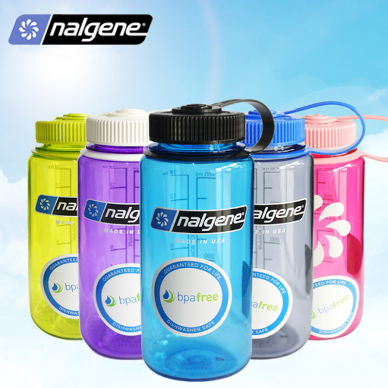 b1206cd731 Nalgene cups plastic outdoor sports portable water bottles students simple  simple leaky glass 500ml