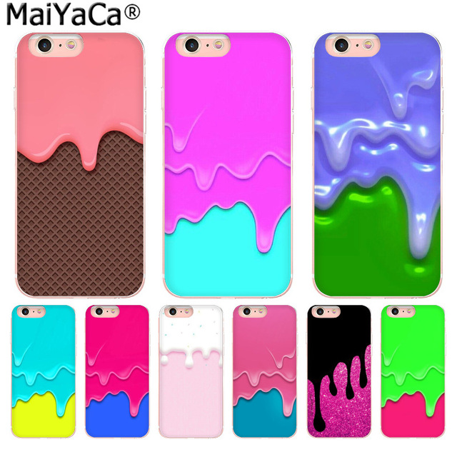 uk availability 9c9fa c0ffd US $2.19 |MaiYaCa Dripping Pink & Blue Slime Amazing new arrival phone case  cover for iPhone 8 7 6 6S Plus X 10 5 5S SE XS XR XS MAX-in Half-wrapped ...