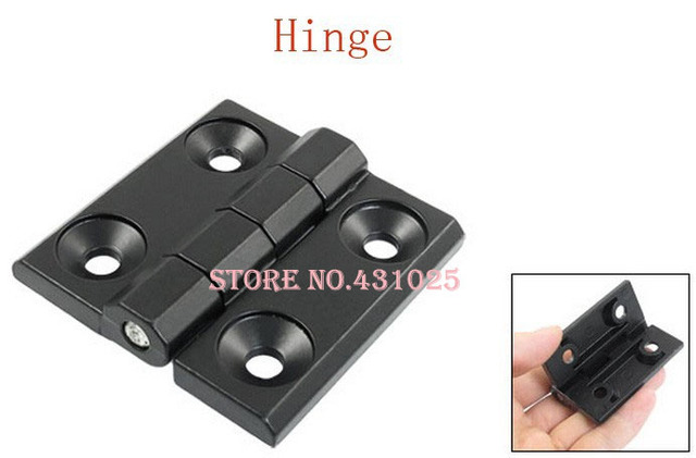 60mm x 60mm Countersunk Hole Zinc Alloy Cabinet Ball Bearing Hinge Black 2pcs