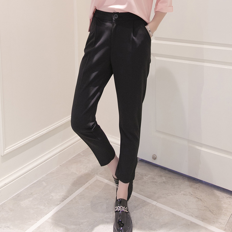 High Waist Black Chiffon Harem   Pants   Women autumn Fashion OL Loose Trousers summer Plus Size   wide     leg     pants   pantalon femme XXXL