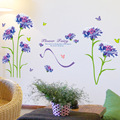 Синие цветы Феи настенные художественные росписи диван изголовье Творческий декор для стен постер украшение дома настенные наклейки обои ...
