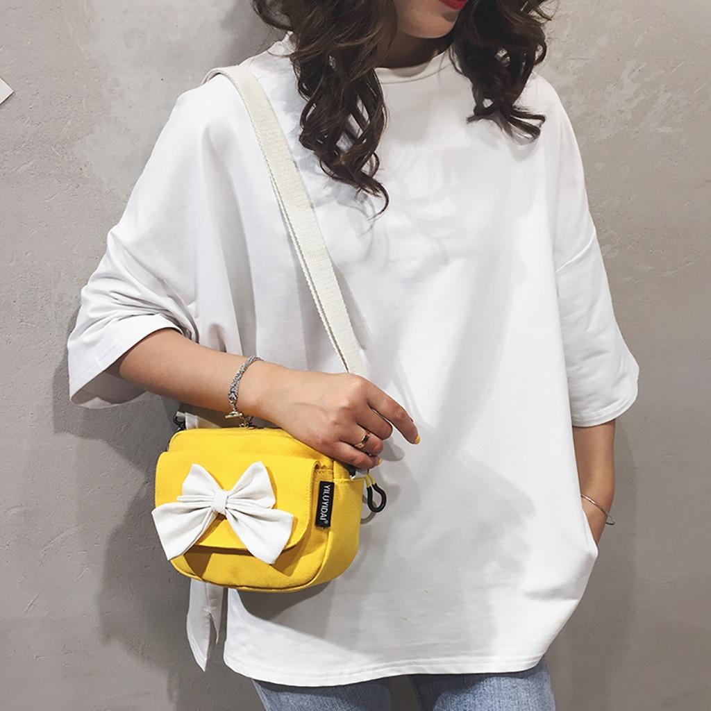 Women's Bags Canvas-Bag Messenger-Bag Fashion De Versatile -20 Bolsos Lona Yellow Mujer