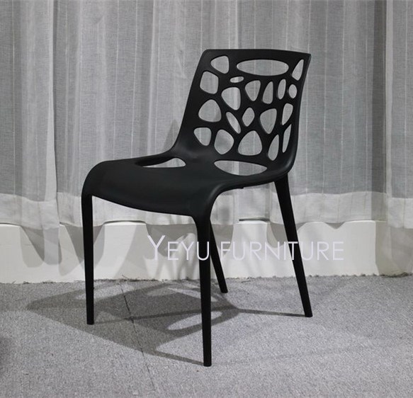 minimalist modern design stackable plastic pp dining side chairs