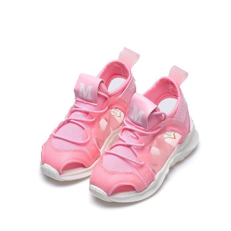 MHYONS Summer Boy Sandals Soft Bottom Hook & Loop Childrens Beach Shoes Super Light Girls Beach Sandals Baby Flat Shoes