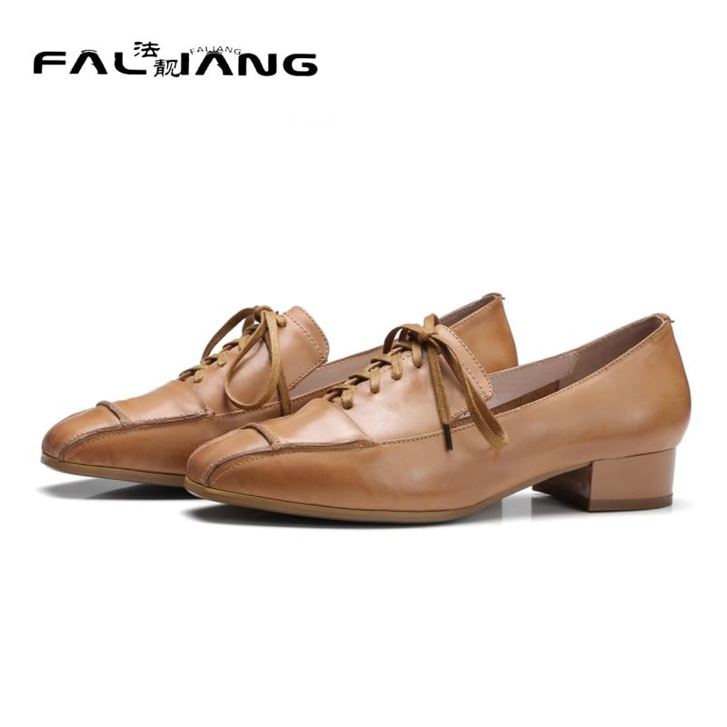 ФОТО 2017 New Genuine Leather Casual Square Toe Big Size 11 12 Fashion Square heel Cross-tied  women shoes woman ladies womens