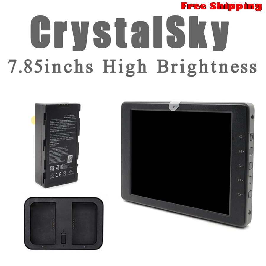 Oringinal DJI CrystalSky 7.85''High Brightness Ultra-BRIGHT Display Monitor For DJI Mavic Pro NEW Remote Control Accessories remote controller transmitter storage box for dji spark mavic pro
