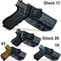 IWB/OWB тактическая кобура из углеродного волокна KYDEX пистолет Glock 19 17 25 26 27 28 43 22 23 31 32 33 внутри скрытый чехол для пистолета