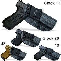 IWB/OWB Tactical Carbon Fiber KYDEX Gun Holster Glock 19 17 25 26 27 28 43 22 23 31 32 33 Inside Concealed Carry Pistol Case