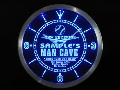 ncqb-tm Name Personalized Custom Man Cave Baseball Bar Beer Neon Sign LED Clock Wholesale Dropshipping
