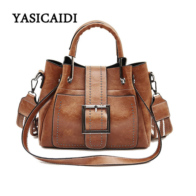 Fashion Women Handbags Dropshipping Pu Leather For Bag Designer Famous Brand Bucket Shoulder Las