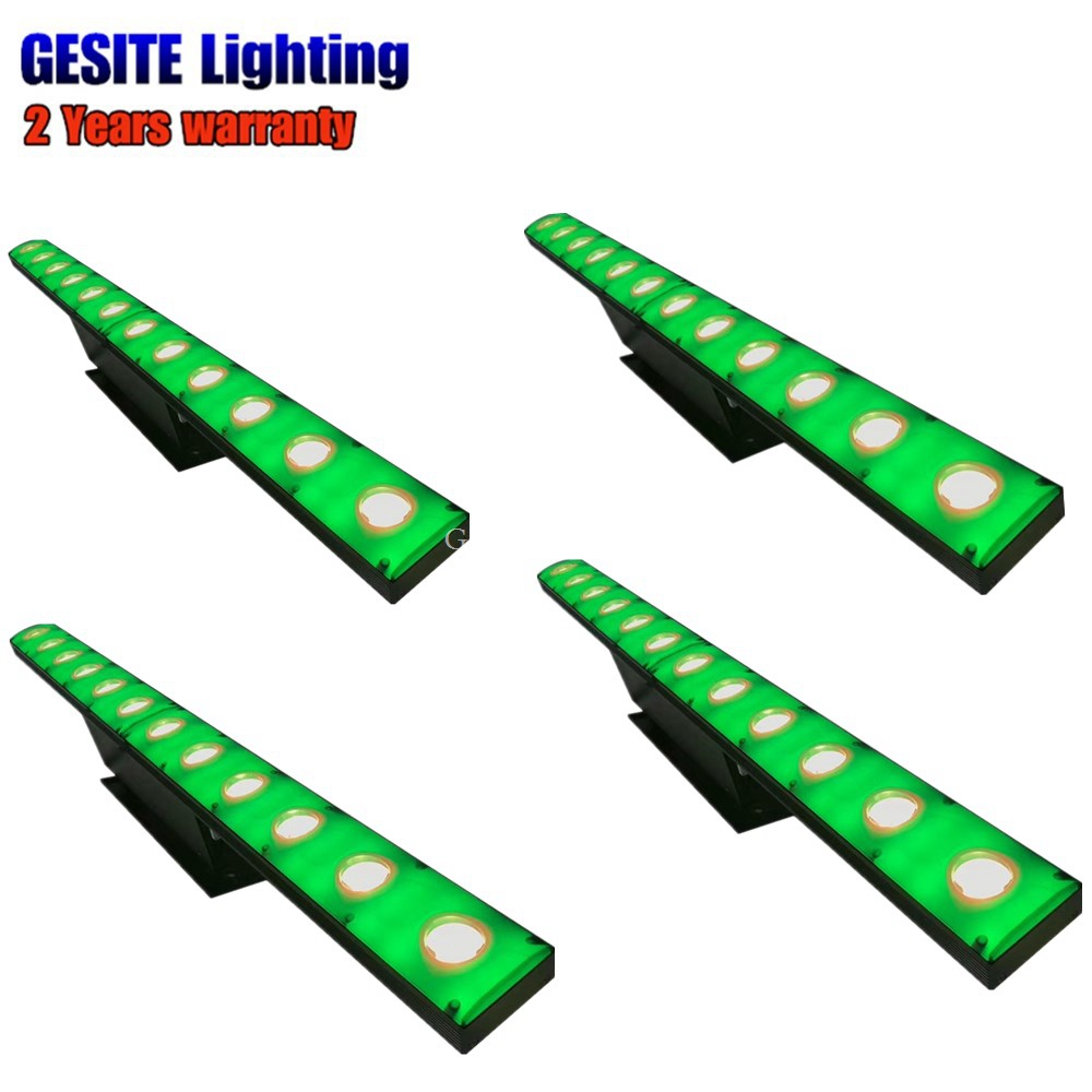 Commercial Lighting Impartial 4pcs/lot 12x3w Bar Rgb Color Led Wall Washer Lights Elegant And Graceful