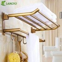 LANGYO Антикварная вешалка для ванной вешалка для полотенец двойная вешалка для полотенец