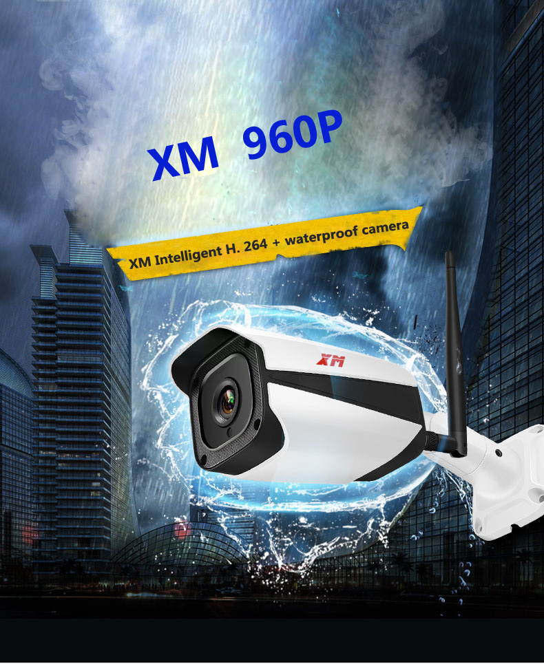 XM 1080 P Onvif WIFI Wireles IP Telecamera di Sicurezza Esterna Impermeabile IP66XM 1080 P Onvif WIFI Wireles IP Telecamera di Sicurezza Esterna Impermeabile IP66