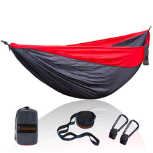 Acehmks Camping Hammock Ultralight Portable Nylon Hamac Swing With 2 Strong Tree Straps Double Size 300CM*200CM