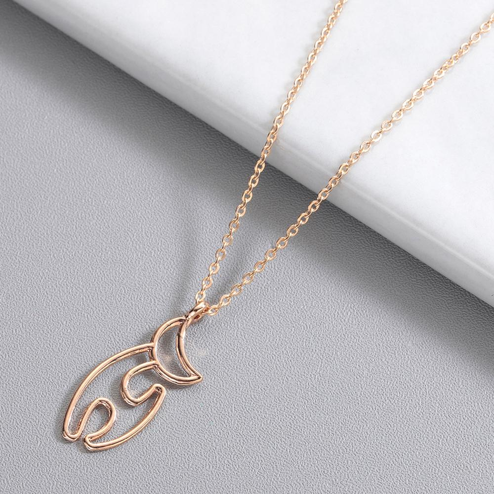 Chereda Punk Hollow Charm Necklaces Fox Animal Lover Pendants Cute Cat Link Chain Collar Jewelry Accessories 2019 Hot Sale in Pendant Necklaces from Jewelry Accessories