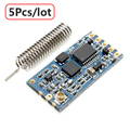 5Pcs/lot HC-12 433 SI4463 Wireless Serial Module Remote 1000M With Antenna Free Shipping