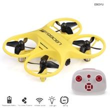 LISHITOYS L6065 Mini Drone RC cuadricóptero controlado por infrarrojos con luz LED Regalo de Cumpleaños niños entrenamiento RTF