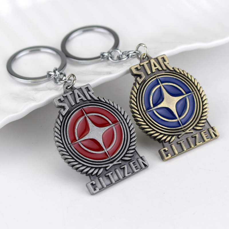 Hot Game Series Star Citizen Starcitizen Keychain Metal Pendent Key Chain Alloy Key Rings Chaveiro For Fans Souvenir
