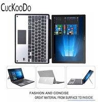 Cuckoodo Тонкий Высокое качество Bluetooth клавиатура Портфолио алюминия Bluetooth клавиатура Стенд чехол/чехол для Surface Pro 4 Планшеты