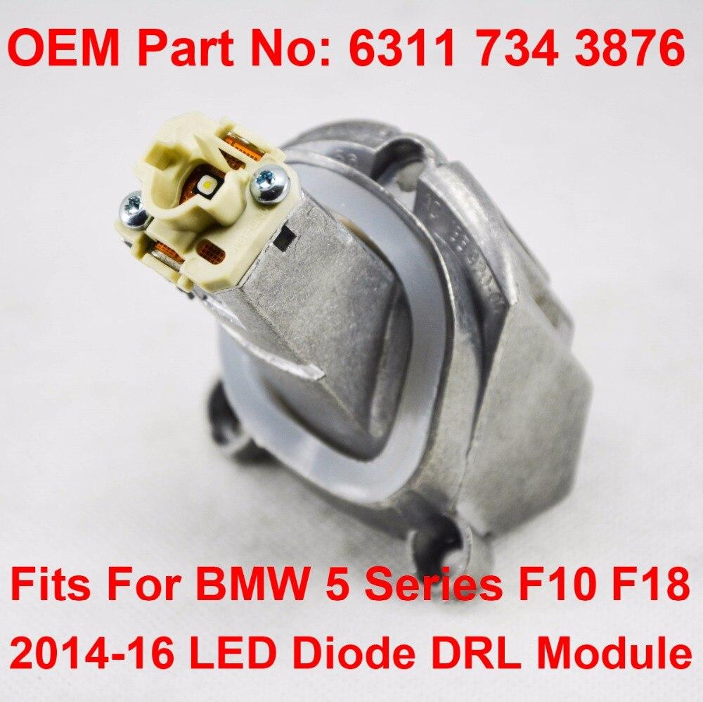 F10 F18 LCI Daytime Driving Angel Eye Light DRL LED Maker Module OEM Part Number 63117343876 Fits For BMW 5 Series 14-16