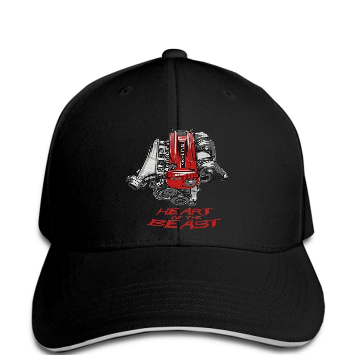 40410db1141 Men Baseball cap Fashion Nissan Skyline Gtr Rb26 R32 R33 R34 Heart of the  Beast Engine
