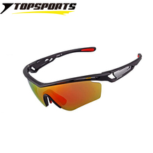 TOPSPORTS  Interchangeable 3 lens Sports Cycling Glasses polarized UV400 men women bike Sunglasses driving  bicycle Eyewear