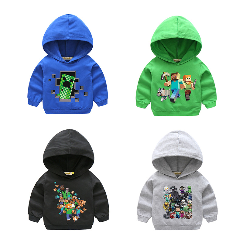 2018 New Year Spring Boy Girl Outdoor Cotton Tops Sweatshirts For Kids Costume Children Long Sleeve Hooded Clothes Hoodies HD007