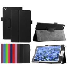 Lujo lichee folio libro pu del soporte del cuero case cubierta elegante capa para lenovo tab a8 a5500 a8-50 5500-h tablet pc + pantalla + Pluma