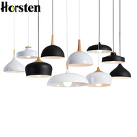Led Pendant Lights Pendant Lamps Modern Hanglamp Aluminum Suspension Luminaire Wood Hanging Lighting Kitchen Dining Room Bar