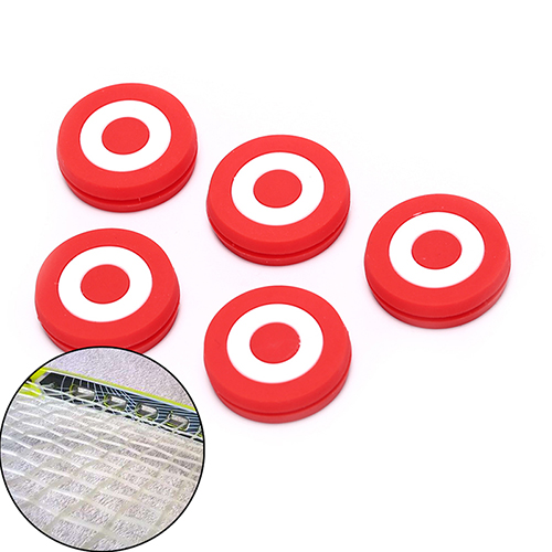 New Arrival 1Pcs Red Target Cute Tennis Racket Vibration Dampener Racquet Shock Absorber Silicone Rubber Good Quality Hot Sale