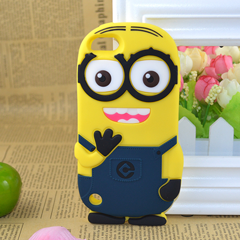 3d Cartoon Minions Soft Silicone Case Cover For Iphone 4s 5c 5s Se Swarovsky Motif 5 5g 6 6s Plus 7 8 Phone Back