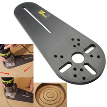 Circle Cutting Jig for Bosch Makita Electric Hand Trimmer Wood Router Milling Circle Trimming Machine Accessories with Logo(China)