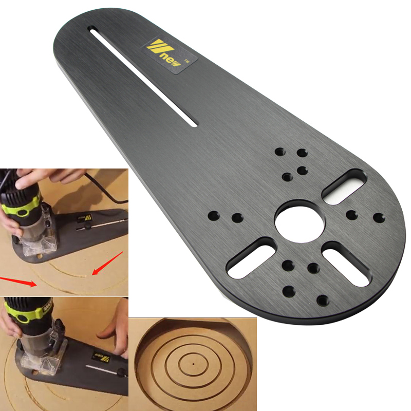 Circle Cutting Jig for Electric Hand Trimmer Wood Router Milling Circle Trimming Machine Accessories