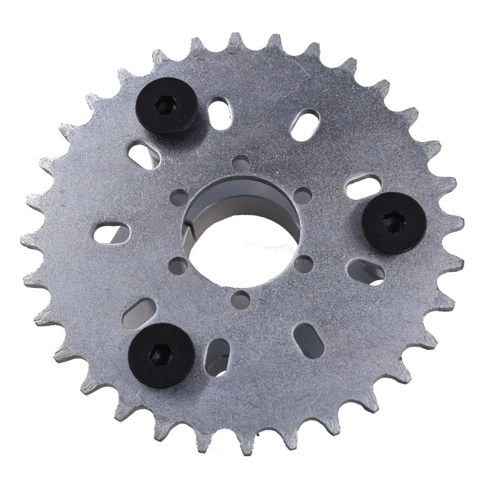 "CNC Black 44T Sprocket /& 1.5/"" Adapter Assembly For 49cc 80cc Gas Motorised Bike"