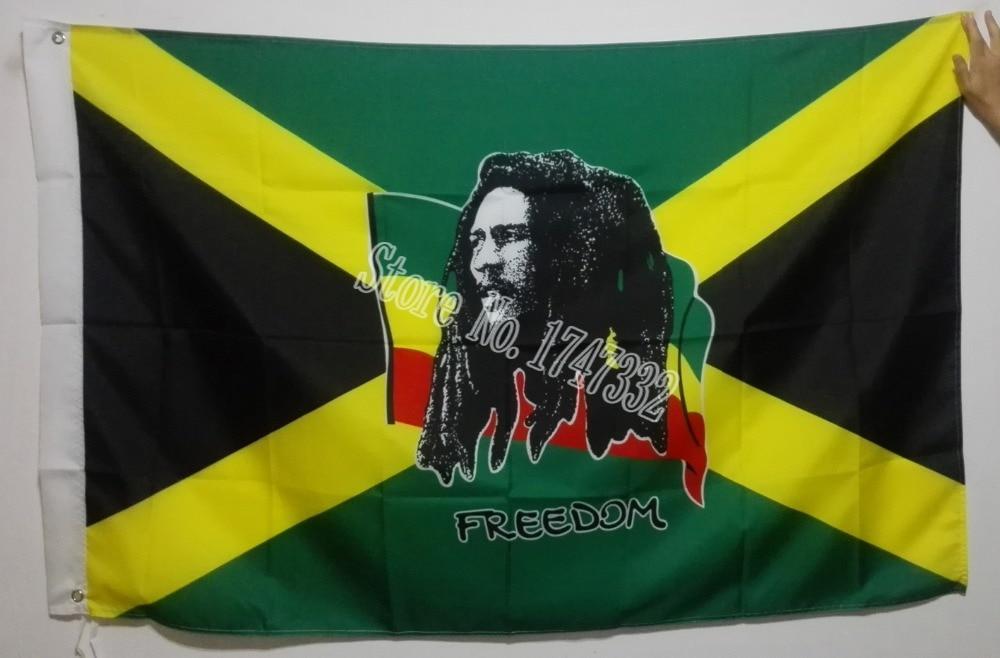 Xhamajka Bob Marley Liria Flamuri i nxehtë shet mallra 3X5FT - Dekor në shtëpi