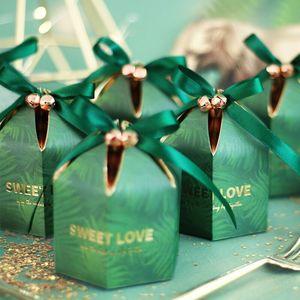 Image 3 - 리본 초콜릿 선물 상자와 녹색 사탕 상자 손님을위한 기념품 결혼식 호의 및 선물 생일 베이비 샤워 호의 상자