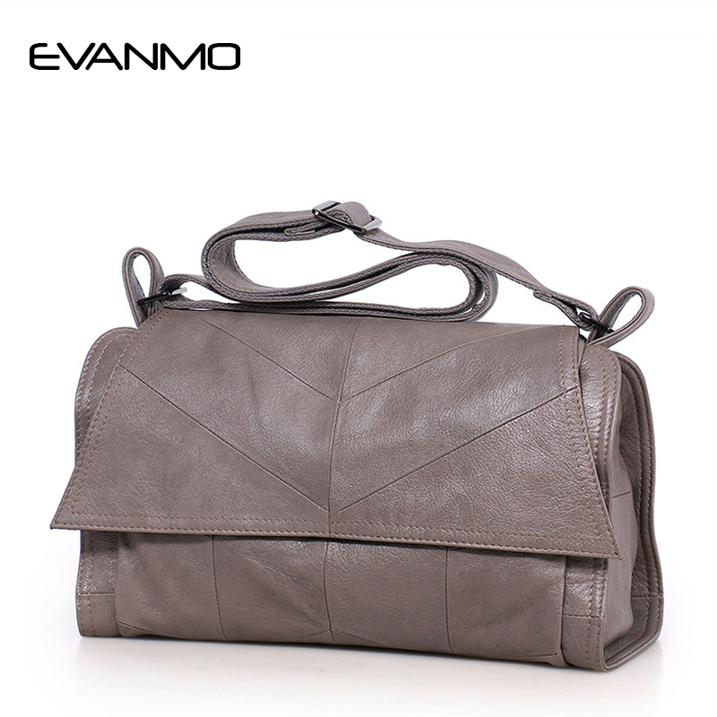 New 2017 Winter Interior Compartment Solid Women Shoulder Bag Real Genuine Leather Messenger Famous Brand & Design Crossbody 2017 special offer direct selling interior compartment genuine leather women shoulder bags hasp two solid soft tote solid bag