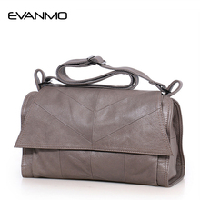 New 2018 Winter Interior Compartment Solid Women Shoulder Bag Real Genuine Leather Messenger Famous Brand & Design Crossbody