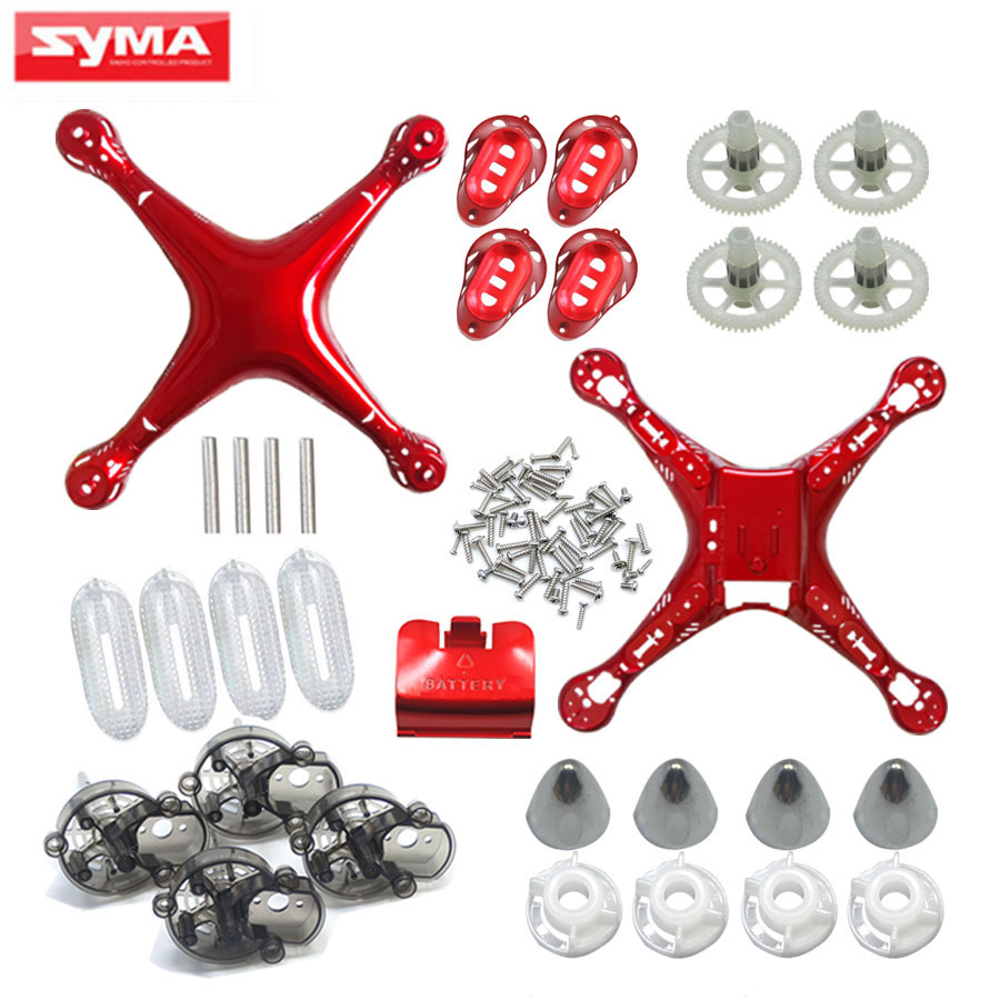 Syma X8HC X8HW X8HG X8H RC Helicopter Parts Main Body + Main Frame lampshade Quadcopter Spare Parts Drone Shell Screw vho power syma x8w rc drone lipo battery 5pcs 2s 7 4v 2500mah and eu charger for syma x8c x8w x8g x8hg rc helicopter spare parts