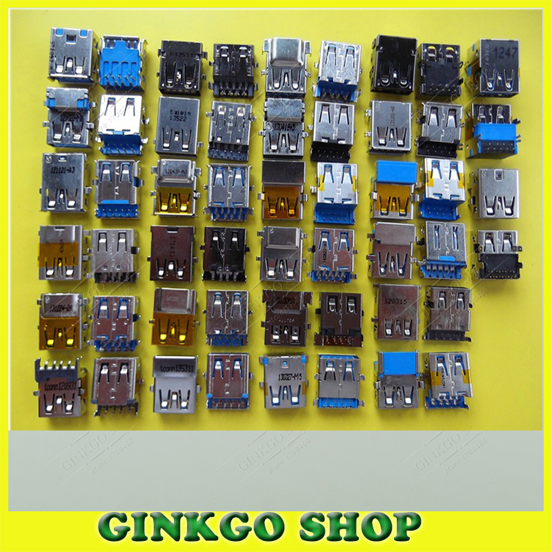 Wholesale 26models 78pcs lot 3 0 USB female jack Notebook USB Jack Sockect Laptop USB 3