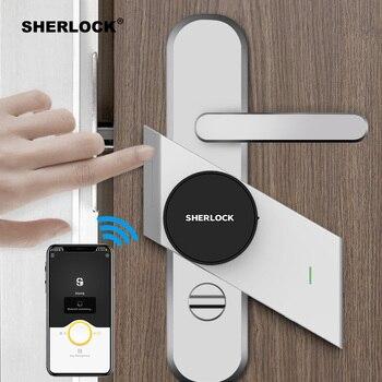 Sherlock S2 Smart Lock Home Keyless Door Lock Fingerprint + Password Work To Electronic Lock Wireless App Phone Remote Control  jc 20130709 1