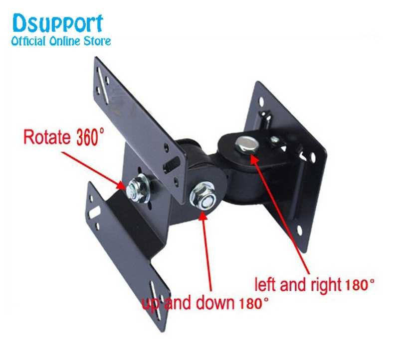 14-24 inch Full Motion LED LCD TV Wall Mount Monitor Holder Bracket F02