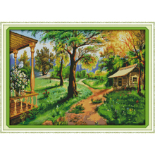 Everlasting love Rural scenery Chinese cross stitch kits Ecological cotton stamped 11CT 14CT Christmas New store sales promotion