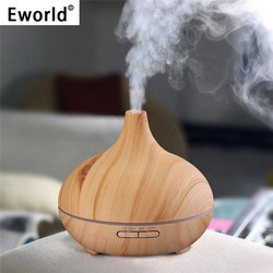 Eworld 300ml Air Humidifier Essential Oil Diffuser Aroma Lamp Aromatherapy Electric Aroma Diffuser Mist Maker for Home Use