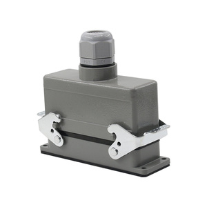 Image 5 - Heavy duty connector rectangular hdc he 4/6/10/16/20/24/32/48 core industrial waterproof aviation plug 16A top and side