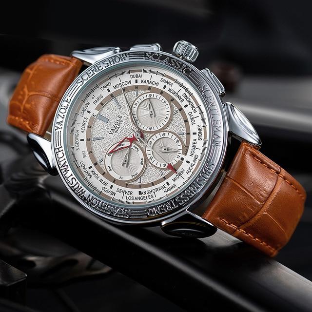Men Watches 2019 YAZOLE Top Brand Luxury Fashion Sports Watches Men Vintage engraving Watches Quartz Hodinky Relogio Masculino 3